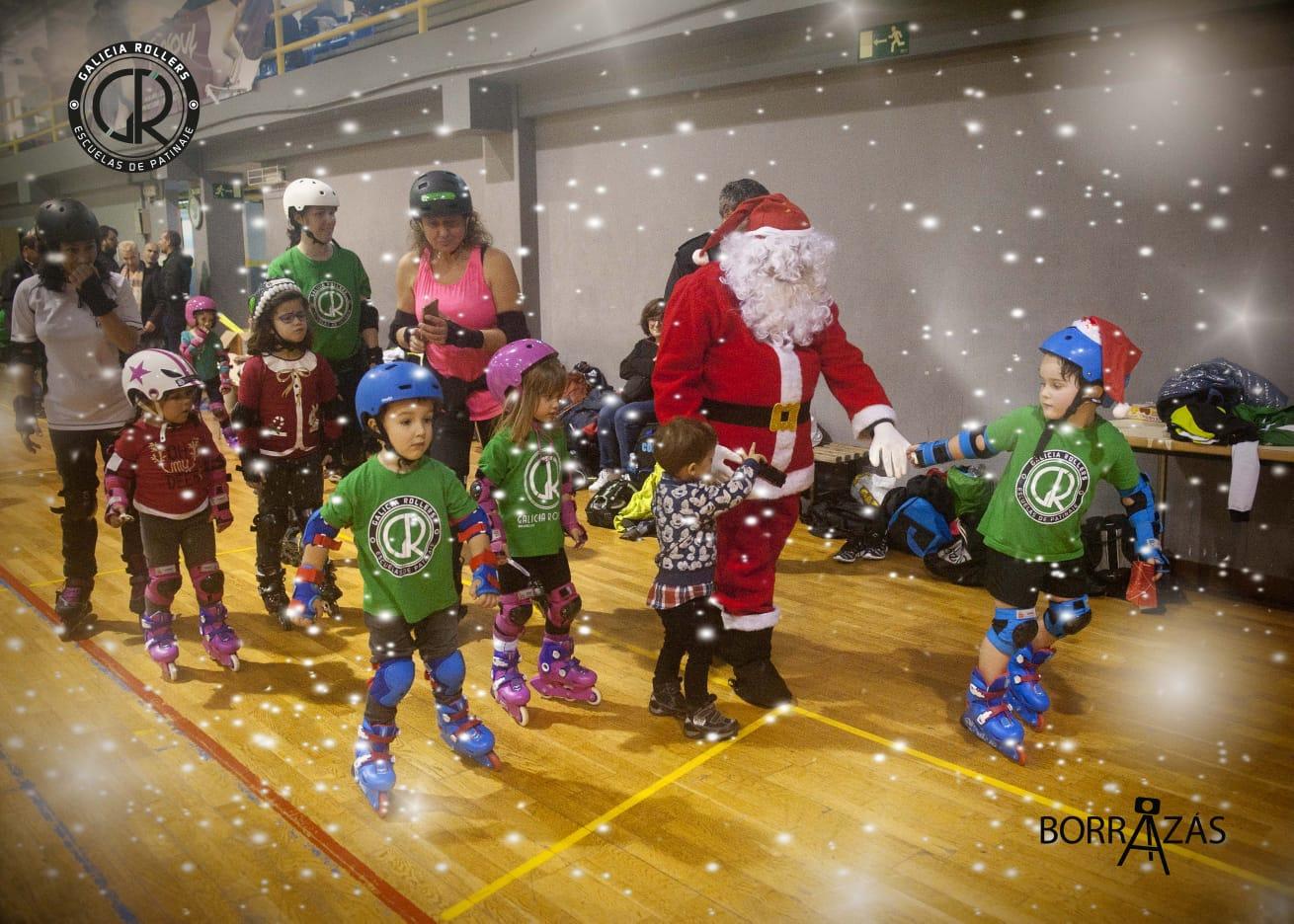 Así transcurrió la Fiesta de Navidad de Galicia Rollers